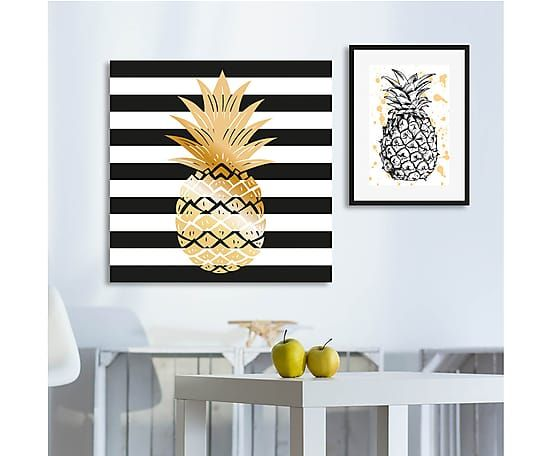 pineapple black&white print