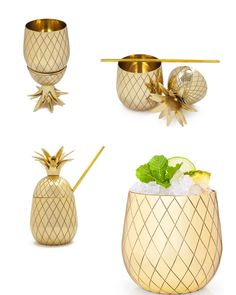 pineapple glass and shaker
