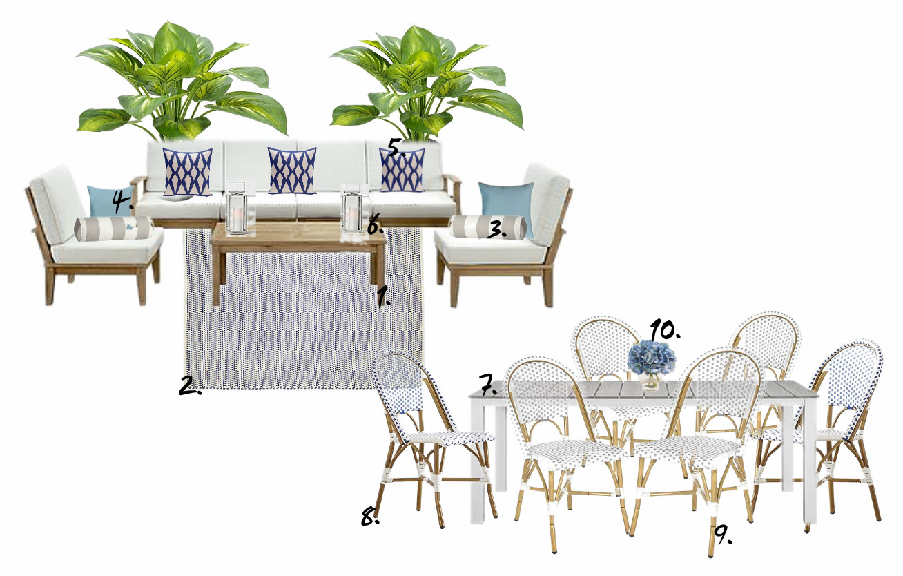 OB-serene outdoor in blue gray and white