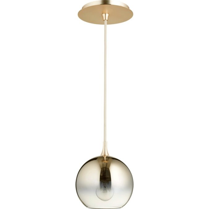 1-Light+Globe+Pendant gold